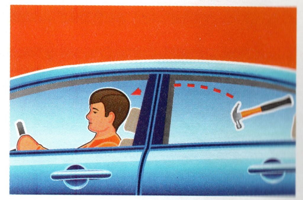 Не возите ничего на задней полке - при резком торможении вещи могут ударить сидящих в салоне людей.