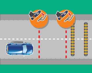 Автомобиль меняет направление своего движения только тогда, когда управляемые колеса не заблокированы